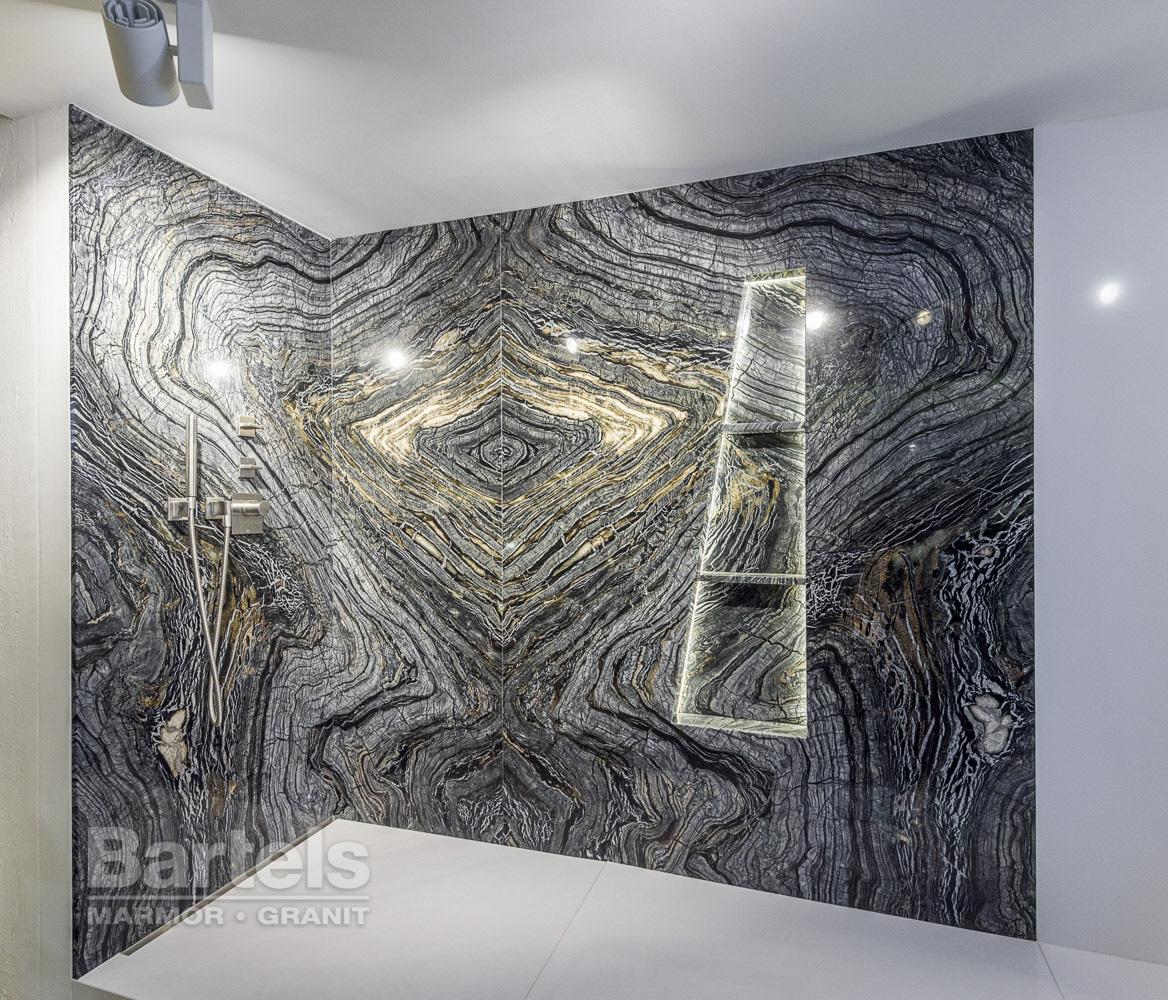 Naturstein Dusche Bad : Dusche ? Silver Brown Wave, ein Marmor aus Brasilien, der die Gewalt