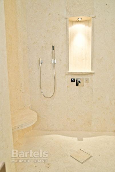 Dusche Mauern Welche Steine : Limestone Shower