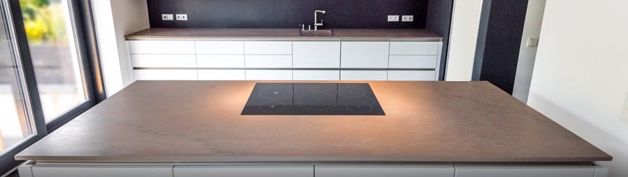 Naturstein küchenarbeitsplatte  Naturstein-Küchenplattenanlage in einem Einfamilienhaus in Hamburg ...